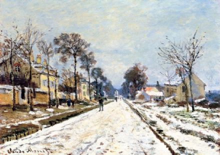 Monet, Claude: The Road to Louveciennes. Fine Art Print/Poster. Sizes: A4/A3/A2/A1 (00779)
